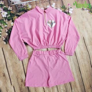 Đồ bộ đũi áo croptop tay cánh dơi kết hợp quần shorts dưới 55kg - Ninedra - AN1005 thumbnail