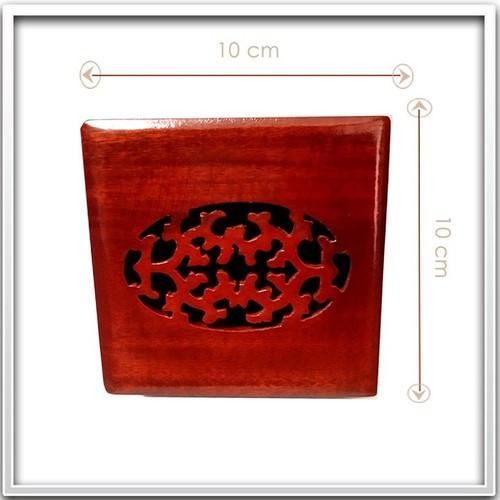 Hộp quà hình vuông bằng gỗ tự nhiên, hàng thủ công cao cấp và khắc hoa văn đẹp, sang trọng - green mart hcm