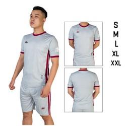 Đồ bộ quần áo thể thao bóng đá nam CRT màu Xám Thời trang Everest - Thun dày đẹp - Chất vải đẹp form chuẩn