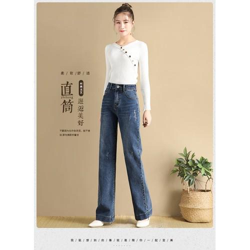 Quần jean nữ ống suông thời trang phong cách năng động