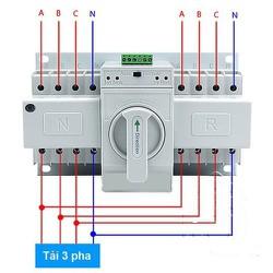 Chuyển Nguồn Điện Tự Động ATS - Cầu dao Đảo Chiều Tự Động ATS 3 Pha 63A