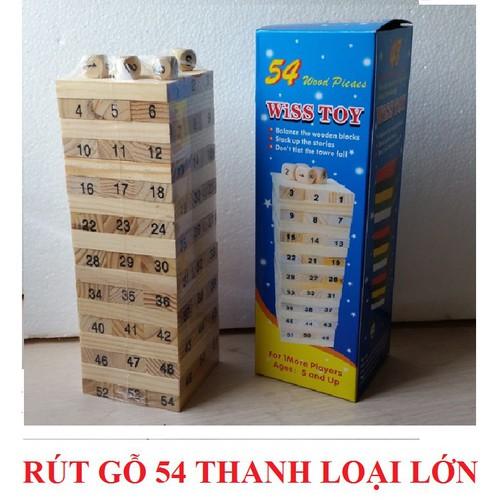Đồ chơi rút gỗ 54 thanh loại to đồ chơi thông minh cho bé