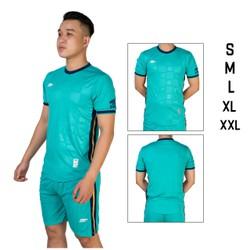Đồ bộ quần áo thể thao bóng đá nam CRT màu Xanh Ngọc Thời trang Everest - Thun dày đẹp - Chất vải đẹp form chuẩn