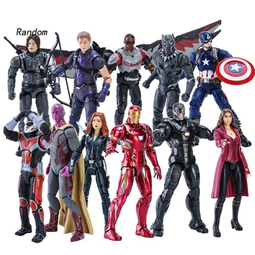 17cm movable captain america thanos avengers model statue action figure toy gift