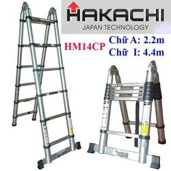 THANG RÚT CHỮ A 2M2 + 2M2 HAKACHI NHẬT BẢN HM14CP - BH 2 NĂM