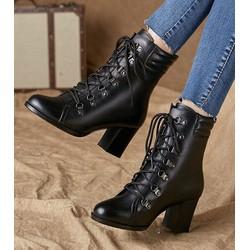 Giày Bốt nữ cao cổ Phong Cách Hàn Quốc - B96