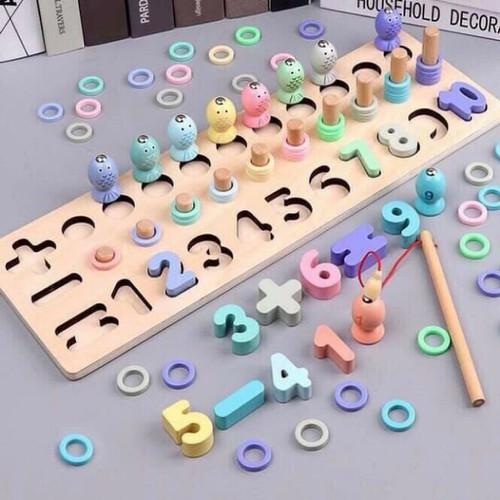 Bộ đồ chơi học chữ số chơi đếm số kèm bộ câu cá bằng gỗ nhiều màu cho bé giúp trẻ thông minh phát triển trí tuệ - 20524552 , 23387398 , 15_23387398 , 164000 , Bo-do-choi-hoc-chu-so-choi-dem-so-kem-bo-cau-ca-bang-go-nhieu-mau-cho-be-giup-tre-thong-minh-phat-trien-tri-tue-15_23387398 , sendo.vn , Bộ đồ chơi học chữ số chơi đếm số kèm bộ câu cá bằng gỗ nhiều màu ch