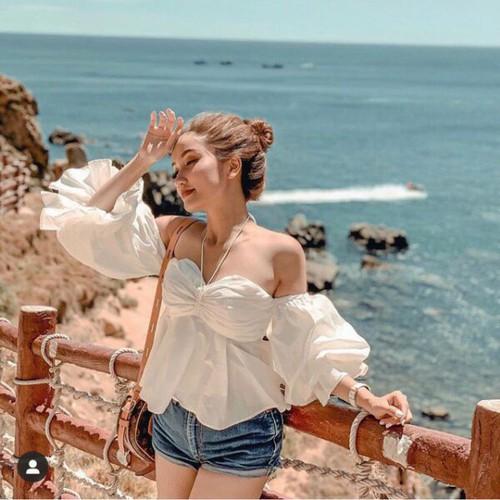 Áo voan nữ trắng đẹp