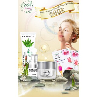 Kn Beauty - Combo face chuyên về nám gồm kem face, serrum, sữa rửa mặt Mẫu mới - combofacesrm thumbnail