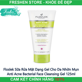 Floslek Sữa Rửa Mặt Dạng Gel Cho Da Nhờn Mụn Anti Acne Bacterial Face Cleansing Gel 125ml - FL02