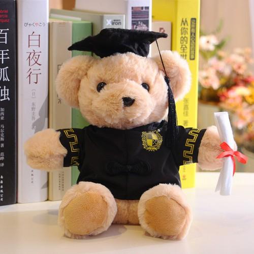 Gấu nhồi bông mặc đồ lễ tốt nghiệp