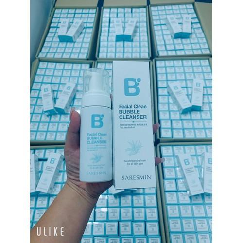 Sửa rửa mặt bọt khí facial clean bubble cleanser hàn quốc dùng được cho da nhạy cảm tổn thương