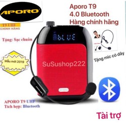 CHÍNH HÃNG GIÁ GỐC Máy trợ giảng Aporo T9 UHF phiên bản bluetooth không dây