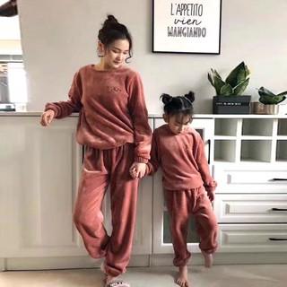 Combo 2 bộ quần áo nhung lót lông siêu ấm cho mẹ và bé - BN5569L thumbnail