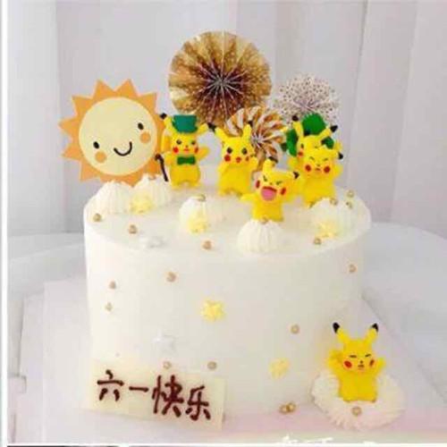Set pikachu trang trí bánh kem