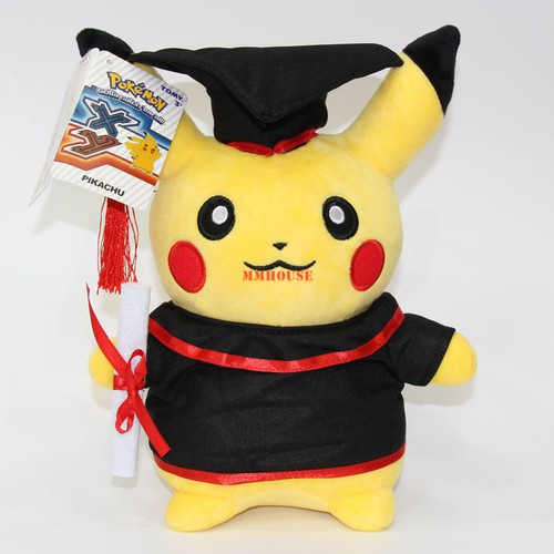 Gấu bông pikachu tốt nghiệp 28cm dễ thương