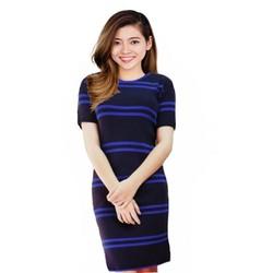 Đầm len body dày sọc ngang size đến 65kg
