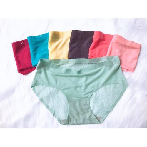 Combo 3 quần lót nữ su đúc chất su mát lạnh, thiết kế không đường may, siêu co giãn, mềm mại, thoải mái, mỏng nhẹ