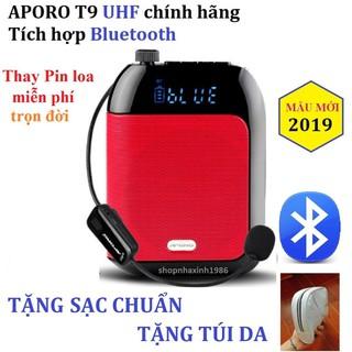 Tặng mic có dây Máy trợ giảng Aporo T9 UHF có Bluetooth không dây - 1573969739 thumbnail