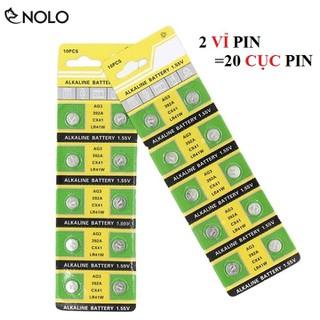 Combo 2 Vĩ Gồm 20 Viên Pin Cell Mini Model AG3 392A CX41 LR41 Điện Áp 1,55V - pinag3 thumbnail