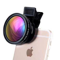 Lens Chụp Ảnh Cho Điện Thoại 2 Trong 1 Góc Rộng Và Macro
