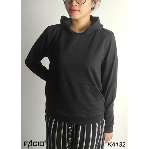Áo khoác hoodie nam nữ, áo khoác thun tròng đầu facioshop ka132g