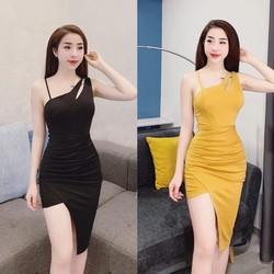 [SIÊU SALE] Đầm ôm vải lụa Umi korea hoặc lụa tuyết size M, L, XL, 2XL thiết kế cao cấp 40-74kg có mút ngực