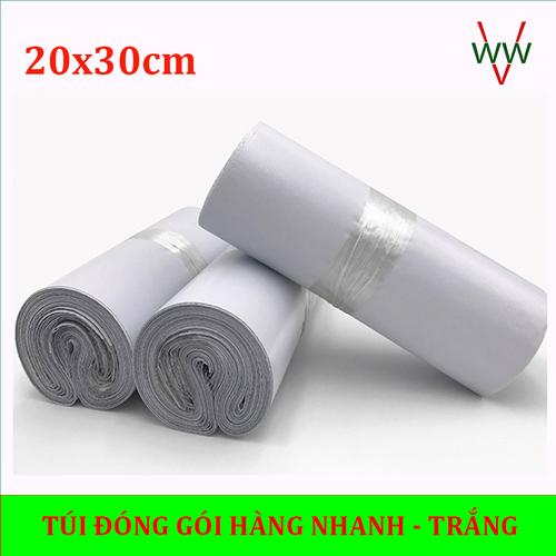 [Giá tận xưởng 20x30cm] combo 100 = 1 cuộn. túi đóng hàng - túi đóng hàng niêm phong màu trắng ✔️✔️✔️