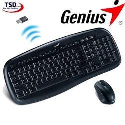 Combo chuột và bàn phím Genius không dây chính hãng