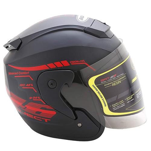 Nón bảo hiểm 3-4 có kính bopa helmet tem 46 5 màu phượt thủ nón bảo hiểm 3-4 có kính bopa helmet tem 46 5 màu phượt thủ
