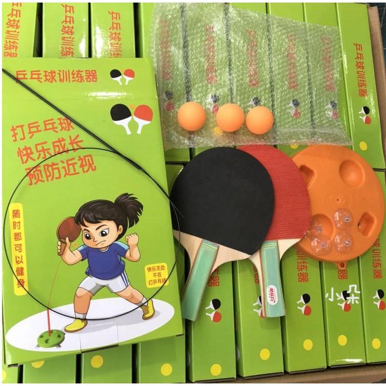 [MIỄN SHIP] Bộ bóng bàn 3 bóng vợt gỗ luyện phản xạ thể dục mọi lúc mọi nơi - BONGBAN7 8