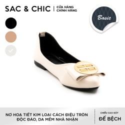 Giày Búp Bê BBB-2 Nơ Phối Kim Loại Tròn Cách Điệu Độc Đáo Sac & Chic
