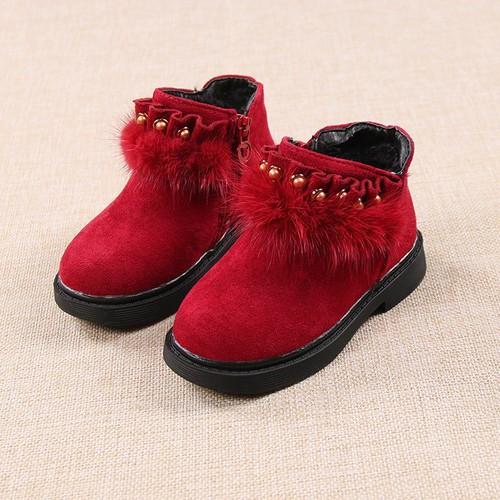 Giày bốt bé gái size 22 và 24 da lộn mềm mịn