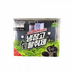 Hộp khử mùi tủ lạnh than hoạt tính khử mùi hải sản ngăn vi khuẩn hỗ trợ bảo quản thực phẩm dạng gel Sandokkaebi, Hàn Quốc 65g - Hộp 4 Lọ