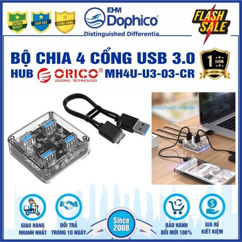 Bộ chia 4 cổng usb 3.0 – hub orico mh4u-u3-03-cr – trong suốt – chính hãng – bảo hành 12 tháng – usb3.0 four – port hub - 20523437 , 23385369 , 15_23385369 , 269000 , Bo-chia-4-cong-usb-3.0-hub-orico-mh4u-u3-03-cr-trong-suot-chinh-hang-bao-hanh-12-thang-usb3.0-four-port-hub-15_23385369 , sendo.vn , Bộ chia 4 cổng usb 3.0 – hub orico mh4u-u3-03-cr – trong suốt – chính hã