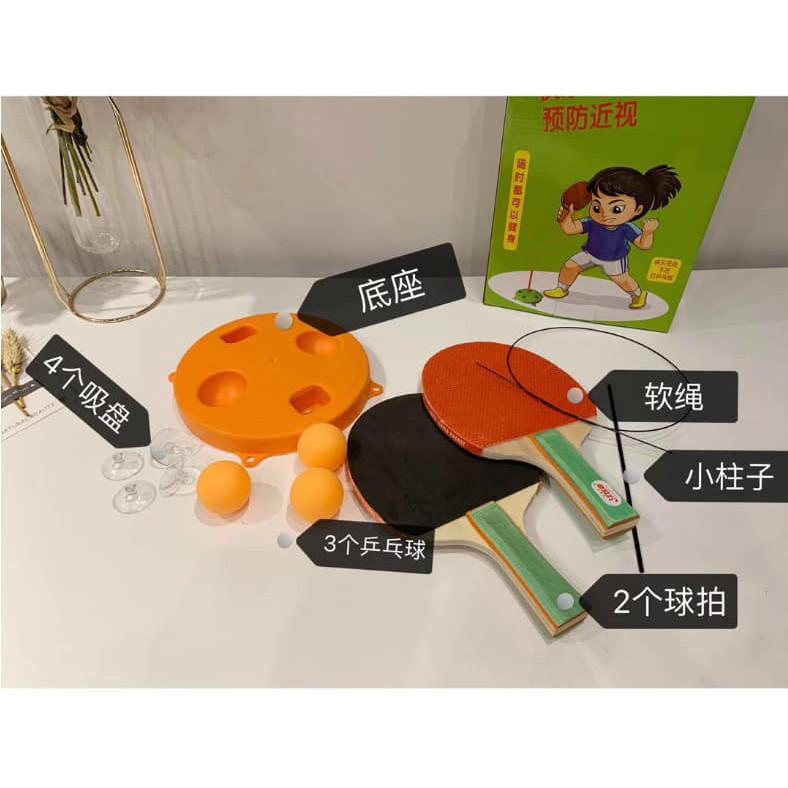 [MIỄN SHIP] Bộ bóng bàn 3 bóng vợt gỗ luyện phản xạ thể dục mọi lúc mọi nơi - BONGBAN7 9