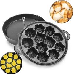 Khuôn Làm Bánh Bông Lan Nướng Chống Dính 12 Bánh Loại Nặng Hàng VNCL