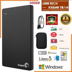 Ổ cứng di động SG backup slim 500gb- bảo hành24 tháng - tặng túi chống sốc.