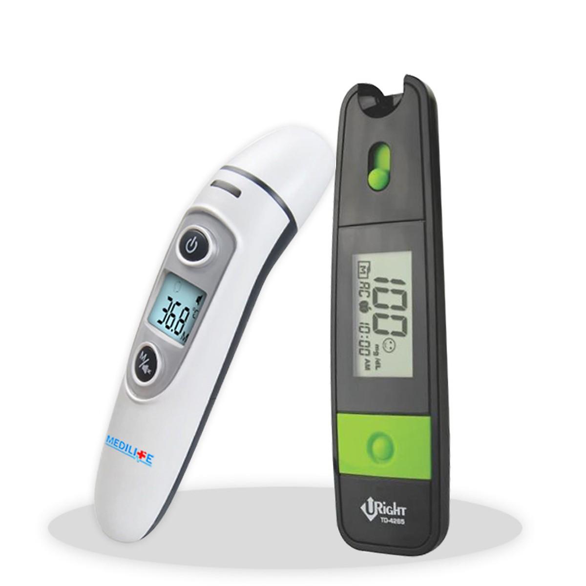 nhiệt kế điện tử hồng ngoại đo tai và trán Medilife IFR600