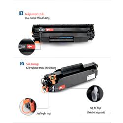 Hộp mực 35A,85A dùng cho máy in Canon 3010,3050,6000,6030,HP 1005,1102-Có lỗ đổ mực - MCTH1005VM00