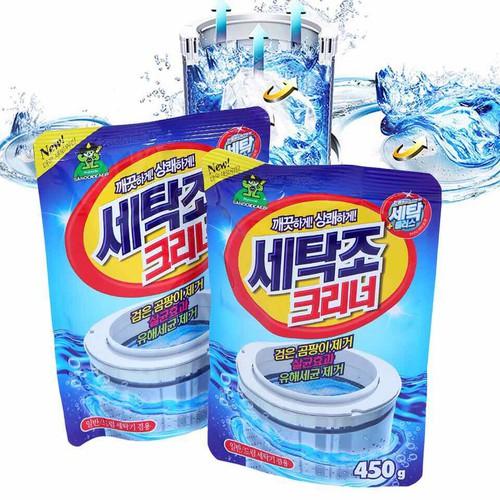 Combo 2 gói bột tẩy vệ sinh lồng máy giặt cực sạch hàn quốc 450g - 19065372 , 23423563 , 15_23423563 , 150000 , Combo-2-goi-bot-tay-ve-sinh-long-may-giat-cuc-sach-han-quoc-450g-15_23423563 , sendo.vn , Combo 2 gói bột tẩy vệ sinh lồng máy giặt cực sạch hàn quốc 450g