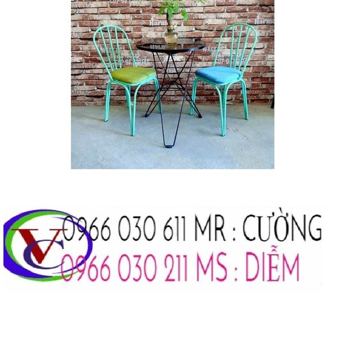 Bàn ghế sắt cafe giá rẻ