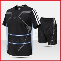 Đồ bộ thể thao nam Bộ quần áo thể thao nam mặc nhà tập GYM