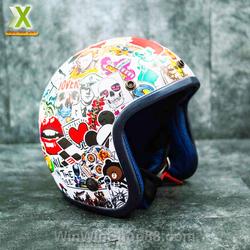 Bộ 50 Sticker dán nón bảo hiểm, vali, laptop, xe phong cách graffiti