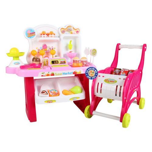 Bộ đồ chơi xe đẩy siêu thị kèm quầy bán kem dùng pin 2 trong 1 cho bé - 20582699 , 23484956 , 15_23484956 , 219000 , Bo-do-choi-xe-day-sieu-thi-kem-quay-ban-kem-dung-pin-2-trong-1-cho-be-15_23484956 , sendo.vn , Bộ đồ chơi xe đẩy siêu thị kèm quầy bán kem dùng pin 2 trong 1 cho bé