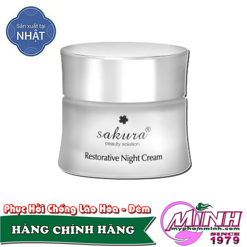 Kem dưỡng phục hồi da chống lão hoá ban đêm sakura restorative night cream - 20555408 , 23438913 , 15_23438913 , 1575000 , Kem-duong-phuc-hoi-da-chong-lao-hoa-ban-dem-sakura-restorative-night-cream-15_23438913 , sendo.vn , Kem dưỡng phục hồi da chống lão hoá ban đêm sakura restorative night cream