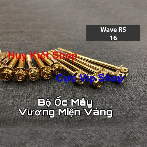 Bộ ốc máy vương miện vàng cho xe wave rs ms2161 - 19190187 , 23426313 , 15_23426313 , 229000 , Bo-oc-may-vuong-mien-vang-cho-xe-wave-rs-ms2161-15_23426313 , sendo.vn , Bộ ốc máy vương miện vàng cho xe wave rs ms2161