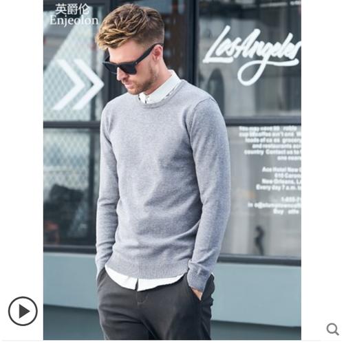 Áo len nam cổ tròn phong cách hàn thời trang thương hiệu enjeolon