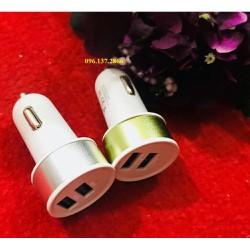 Tẩu sạc điện thoại cao cấp trên xe hơi 2 cổng sạc USB 2 1A chức năng hiện đại Sokieu