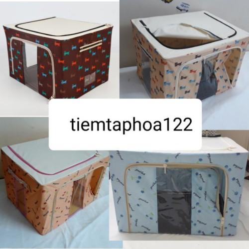 Thùng vải đựng đồ 50x40x33 66l khung thép hộp đựng quần áo đồ chơi cho bé - 20574377 , 23470285 , 15_23470285 , 110000 , Thung-vai-dung-do-50x40x33-66l-khung-thep-hop-dung-quan-ao-do-choi-cho-be-15_23470285 , sendo.vn , Thùng vải đựng đồ 50x40x33 66l khung thép hộp đựng quần áo đồ chơi cho bé